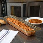 "Carlisle 10440B13 StorPlus High Heat Long Food Pan - 1/2 Size, 2.5""D, Amber"