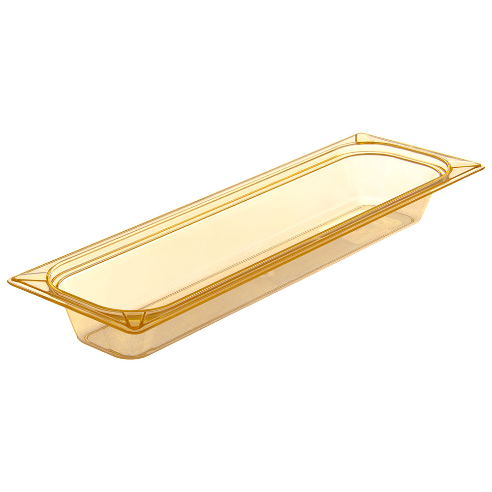 "Carlisle 10440B13 StorPlus High Heat Long Food Pan - 1/2 Size, 2.5""D, Amber"