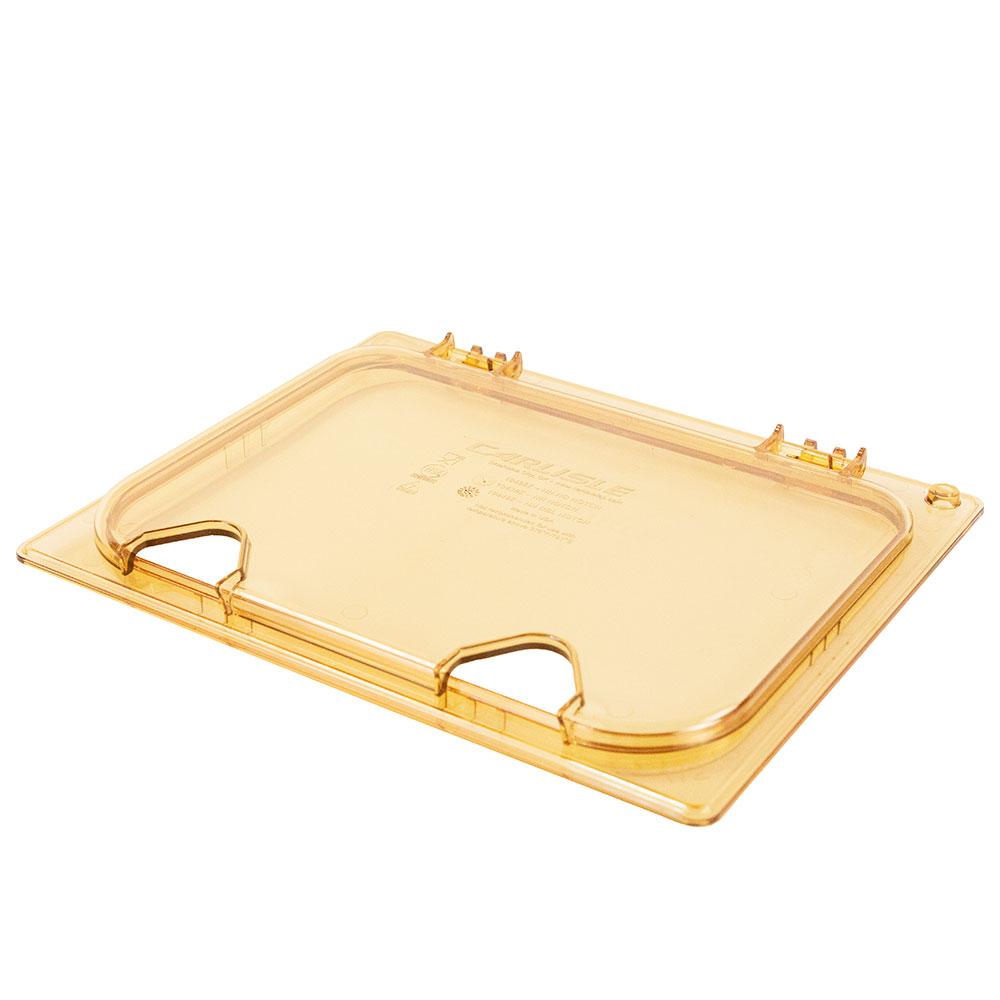 Carlisle 10440Z13 StorPlus™ EZ Access High Heat 1/2-Size Long Universal Lid, Amber