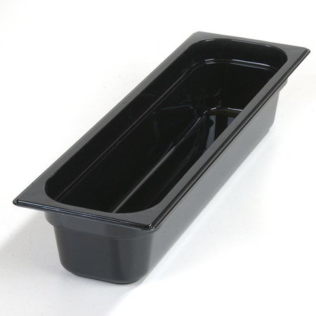 "Carlisle 1044103 High Heat Half Size-Long Food Pan - 4""D, Black"