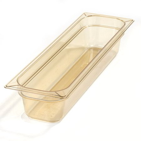 "Carlisle 1044113 High Heat Half Size-Long Food Pan - 4""D, Amber"
