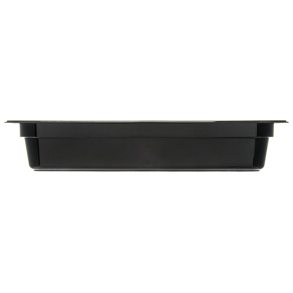 "Carlisle 10441B03 StorPlus High Heat Long Food Pan - 1/2 Size, 4""D, Black"