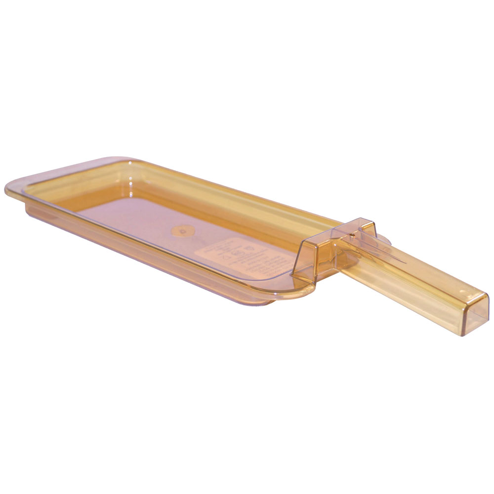 "Carlisle 10458H13 StorPlus High Heat Food Pan w/ Handle - 1/3 Size, 0.8""D, Amber"
