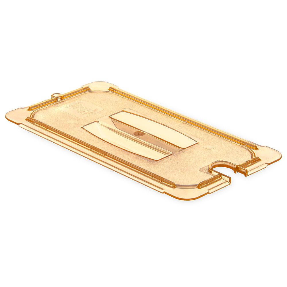 Carlisle 10476U13 Universal 1/3 Size High Heat Food Pan Lid - Flat, Amber