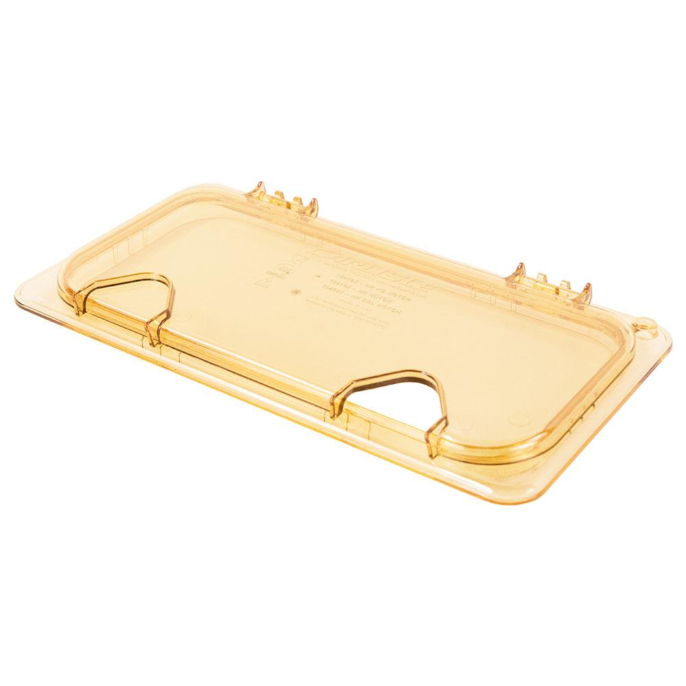 Carlisle 10479Z13 StorPlus™ EZ Access High Heat 1/3-Size Universal Lid, Amber