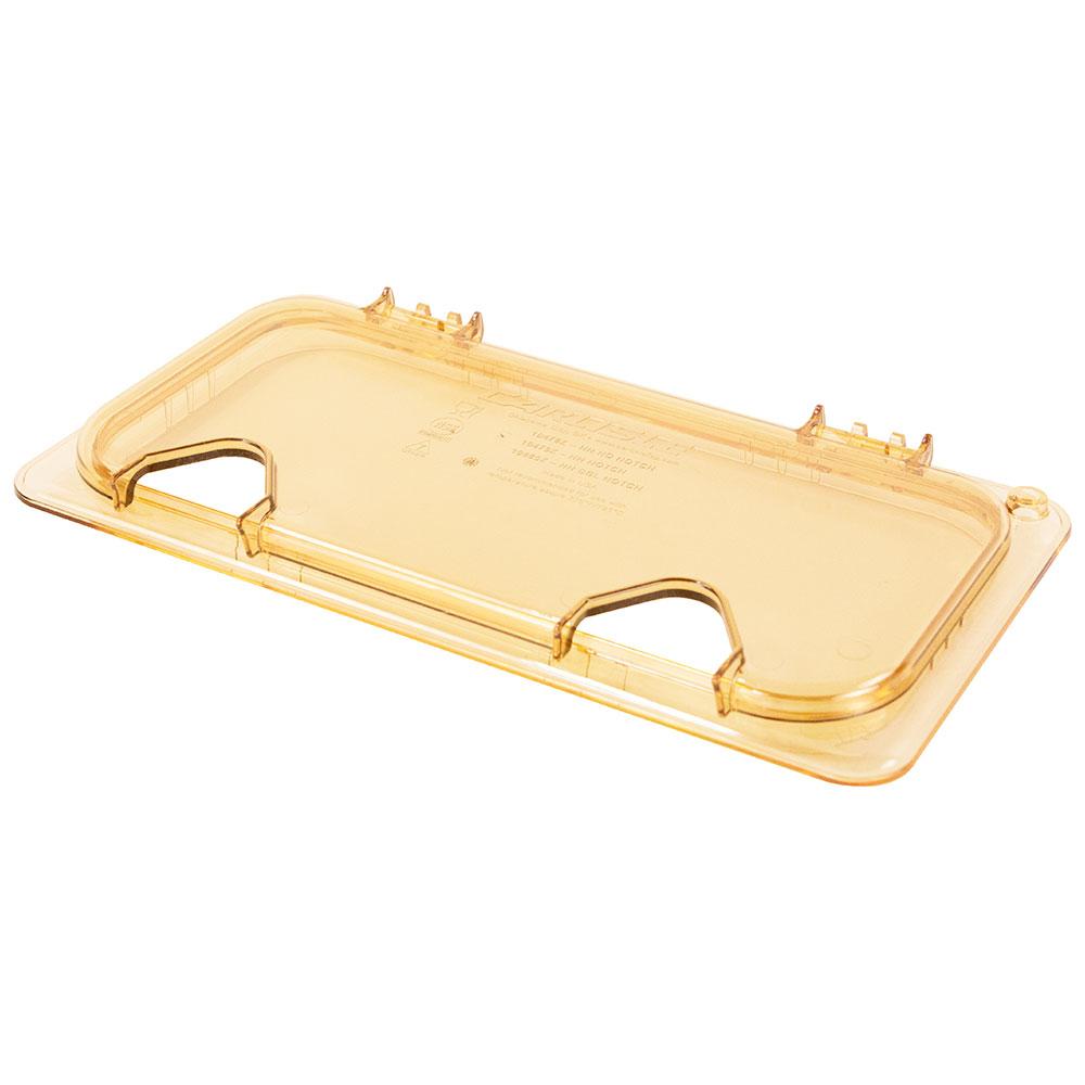 Carlisle 10480Z13 StorPlus™ EZ Access High Heat 1/3-Size Universal Lid, Amber