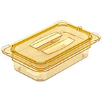 Carlisle 10490U13 Universal 1/4 Size High Heat Food Pan Solid Lid - Amber