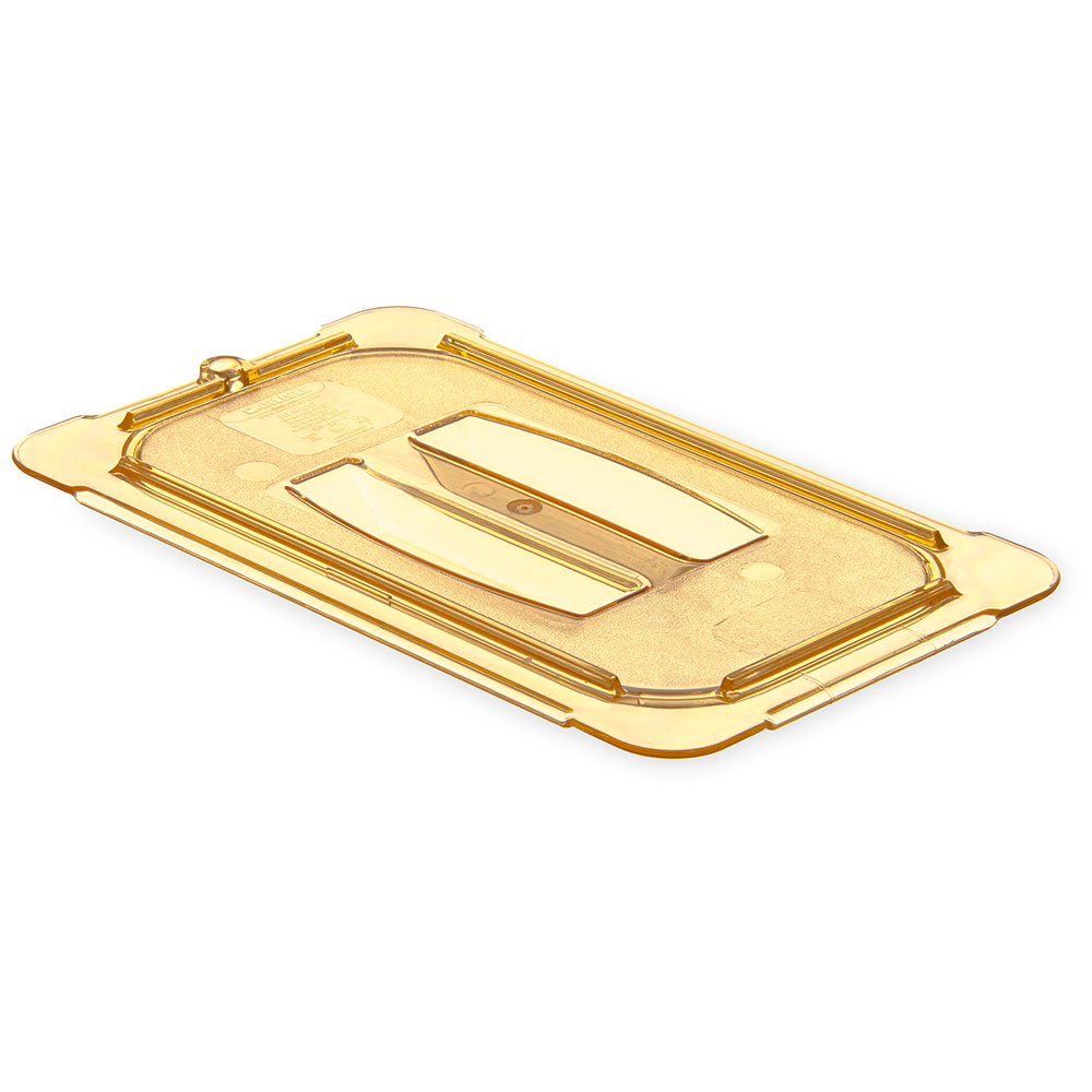 Carlisle 10490U13 Universal 1/4 Size High Heat Food Pan Solid Lid - Amber