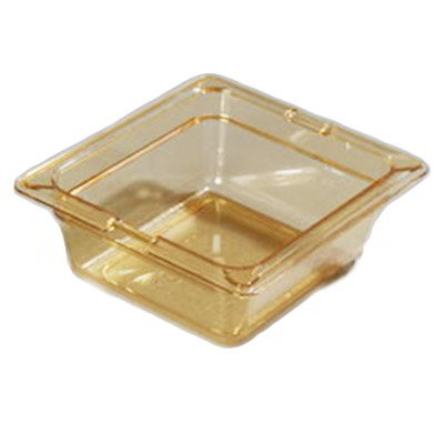 "Carlisle 1050013 High Heat 1/6 Size Food Pan - 2-1/2""D, Amber"