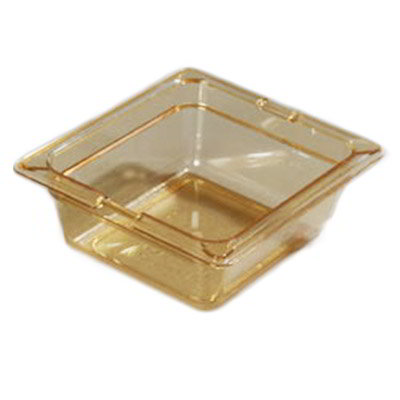 "Carlisle 10500-813 High Heat 1/6 Size Food Pan - 2-1/2""D, (3/Pk) Amber"