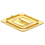 Carlisle 10510U13 Universal 1/6 Size High Heat Food Pan Solid Lid - Amber