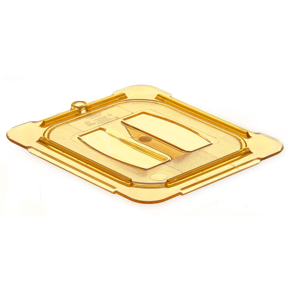 Carlisle 10510U13 Universal 1/6 Size High Heat Food Pan Solid Lid - Amber