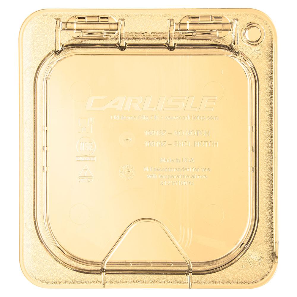 Carlisle 10518Z13 StorPlus™ EZ Access High Heat 1/6-Size Universal Lid, Amber