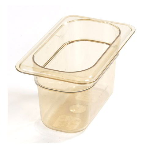 "Carlisle 1052113 High Heat 1/9 Size Food Pan - 4""D, Amber"