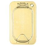 Carlisle 10538Z13 StorPlus™ EZ Access High Heat 1/6-Size Universal Lid, Amber