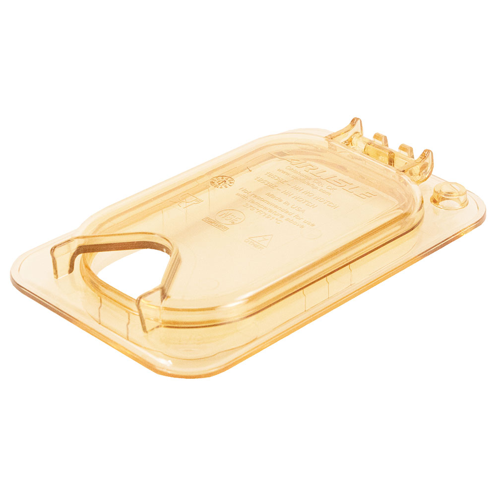 Carlisle 10539Z13 StorPlus™ EZ Access High Heat 1/9-Size Universal Lid, Amber