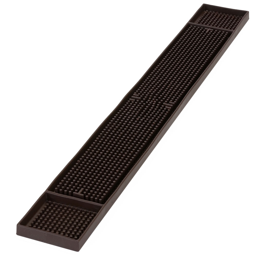 "Carlisle 1060201 Bar Mat - 26-3/4x3-1/4"" Brown"