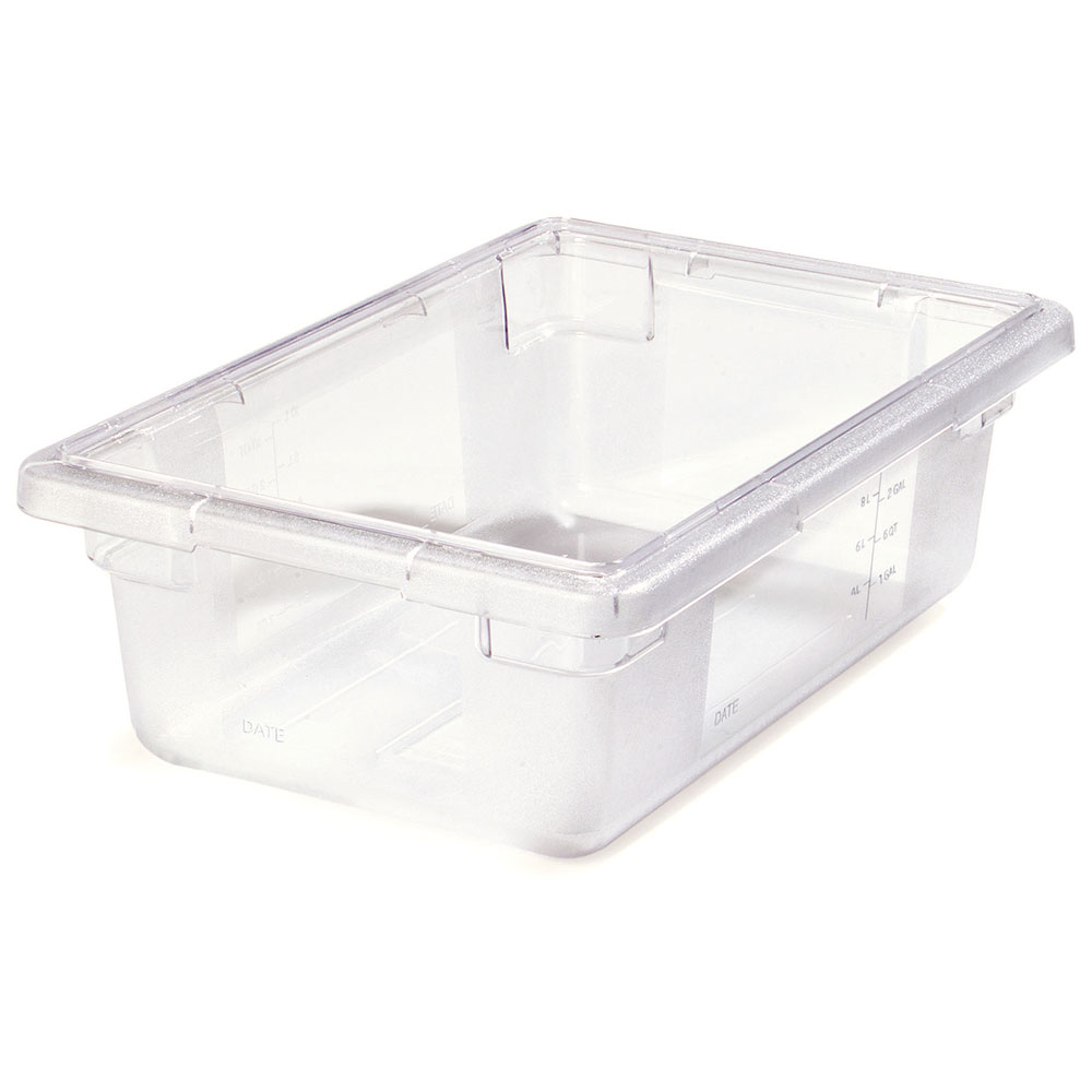 "Carlisle 1061107 3-1/2-gal Food Storage Box - 18x12x6"" Clear"