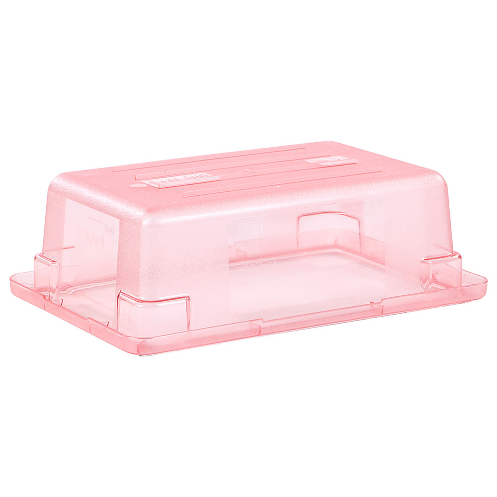 "Carlisle 10611C05 3-1/2-gal Food Storage Box - 18x12x6"" Red"