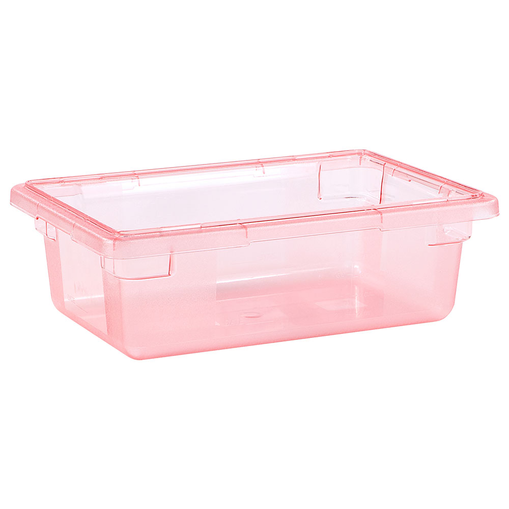 "Carlisle 10611C05 3-1/2-gal Food Storage Box - 18x12x6"" Red"