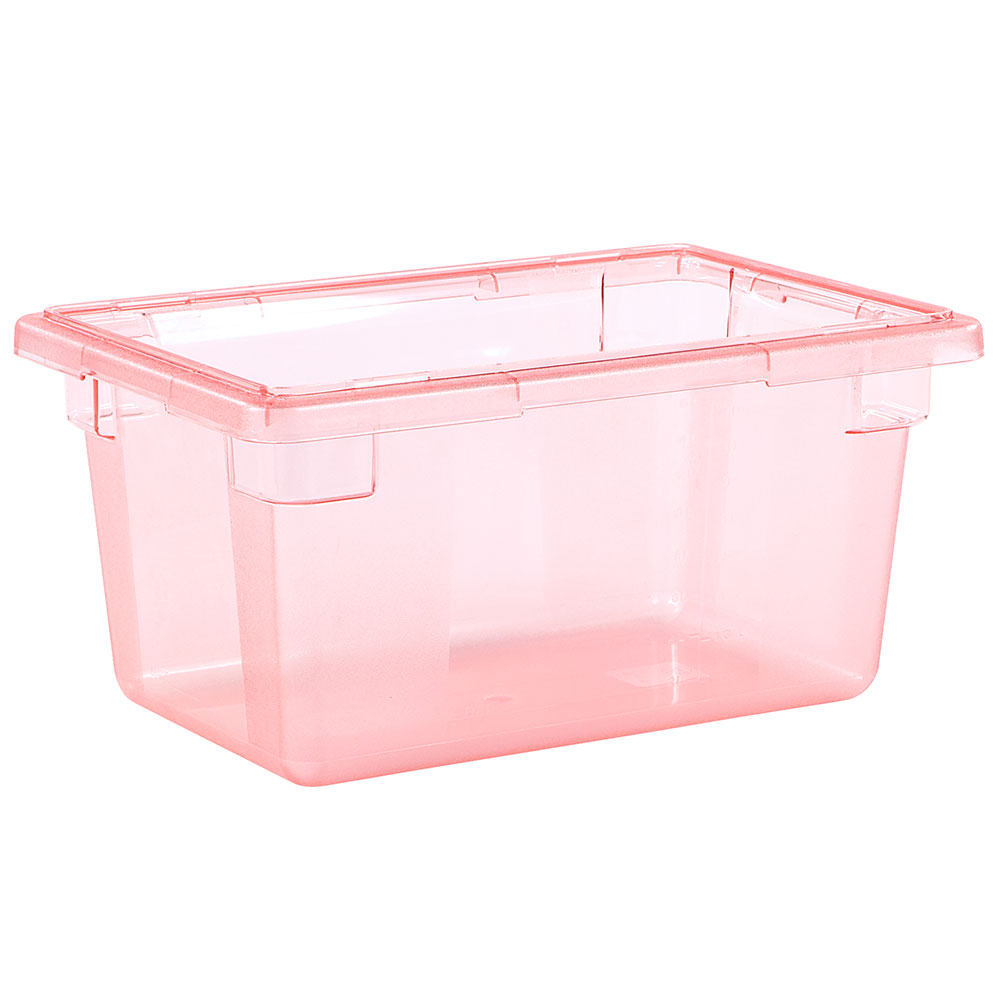 "Carlisle 10612C05 5-gal Food Storage Box - 18x12x9"" Red"