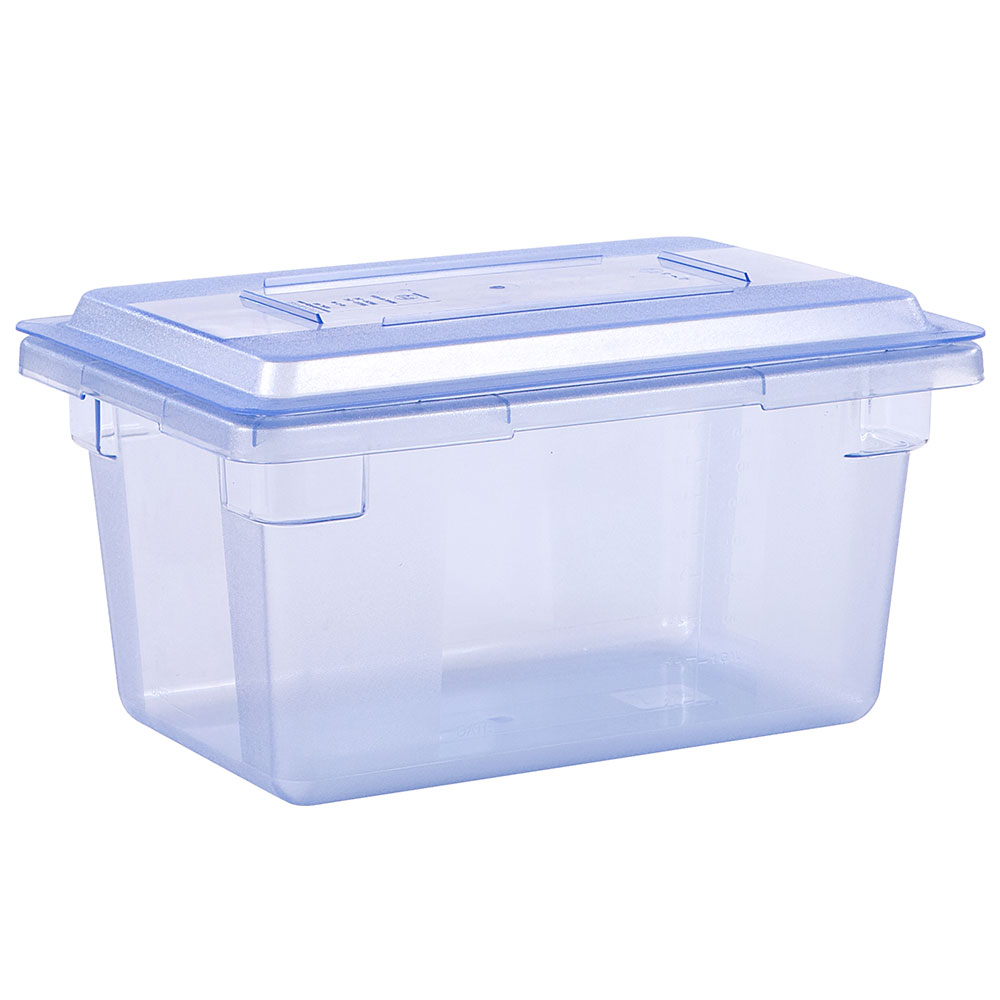 "Carlisle 10612C14 5-gal Food Storage Box - 18x12x9"" Blue"