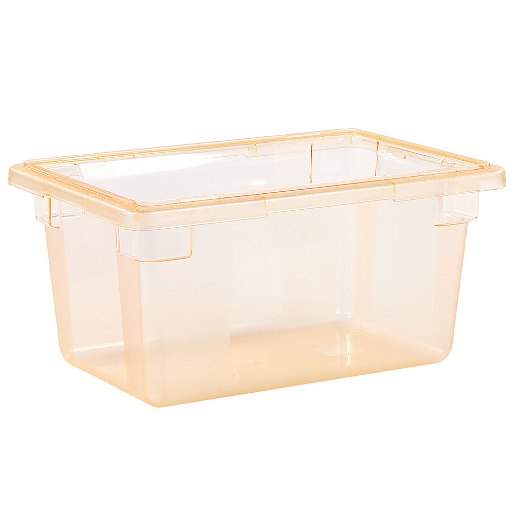 "Carlisle 10612C22 5-gal Food Storage Box - 18x12x9"" Yellow"