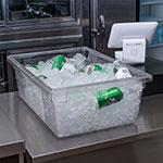 "Carlisle 1062207 12-1/2-gal Food Storage Box - 26x18x9"" Clear"