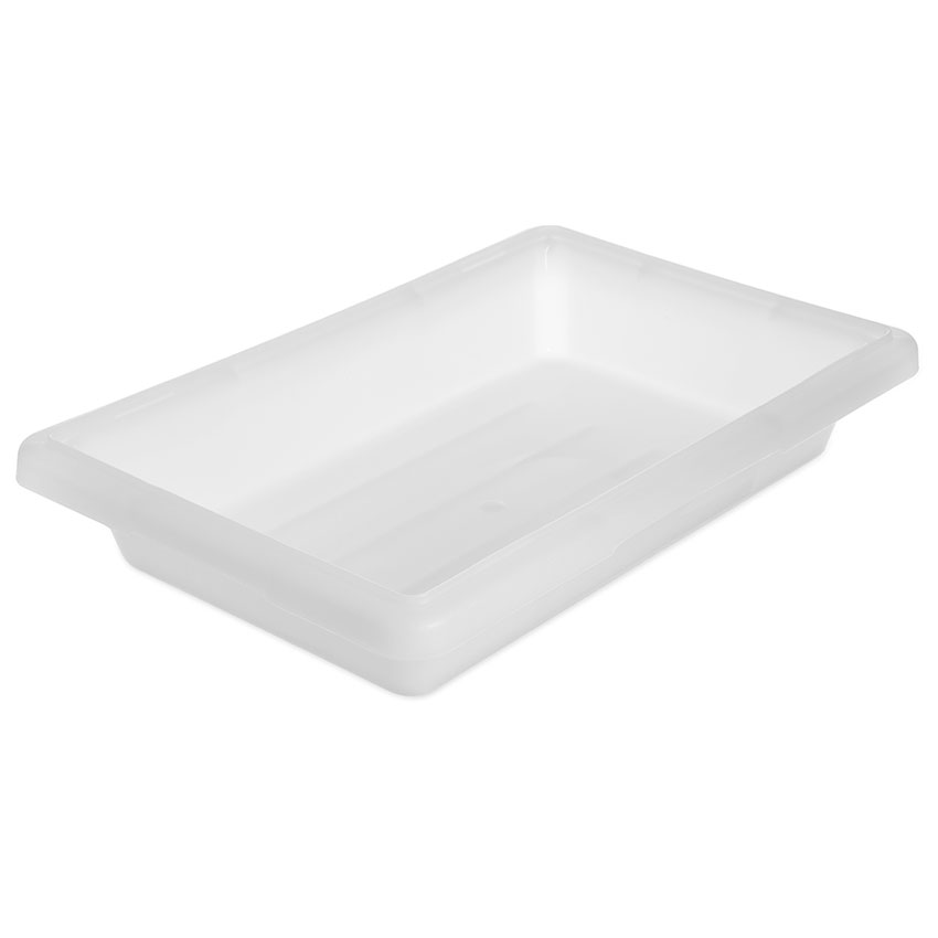 "Carlisle 1063002 2-gal Food Storage Box - 18x12x3-1/2"" White"