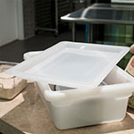 "Carlisle 1063702 Food Storage Lid - 18x12"" White"