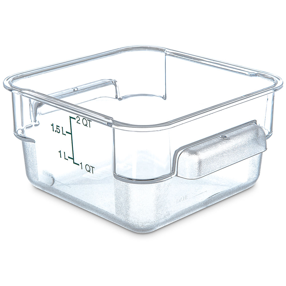 Carlisle 1072007 2-qt Square Food Storage Container - Clear