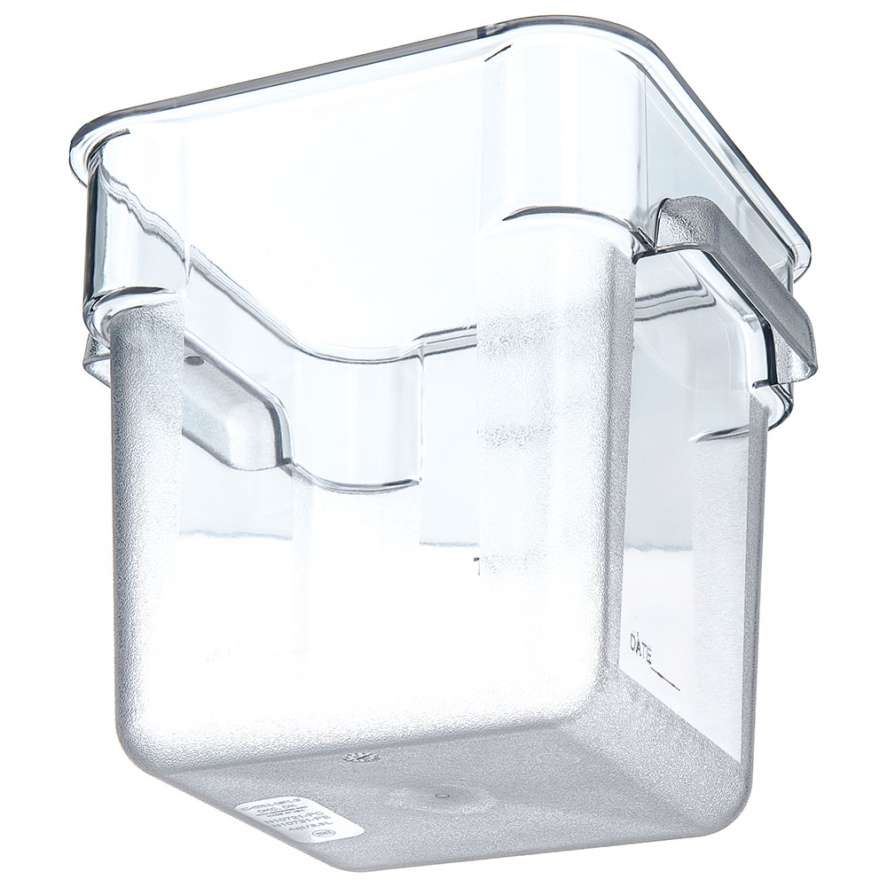 Carlisle 1072107 4-qt Square Food Storage Container - Clear