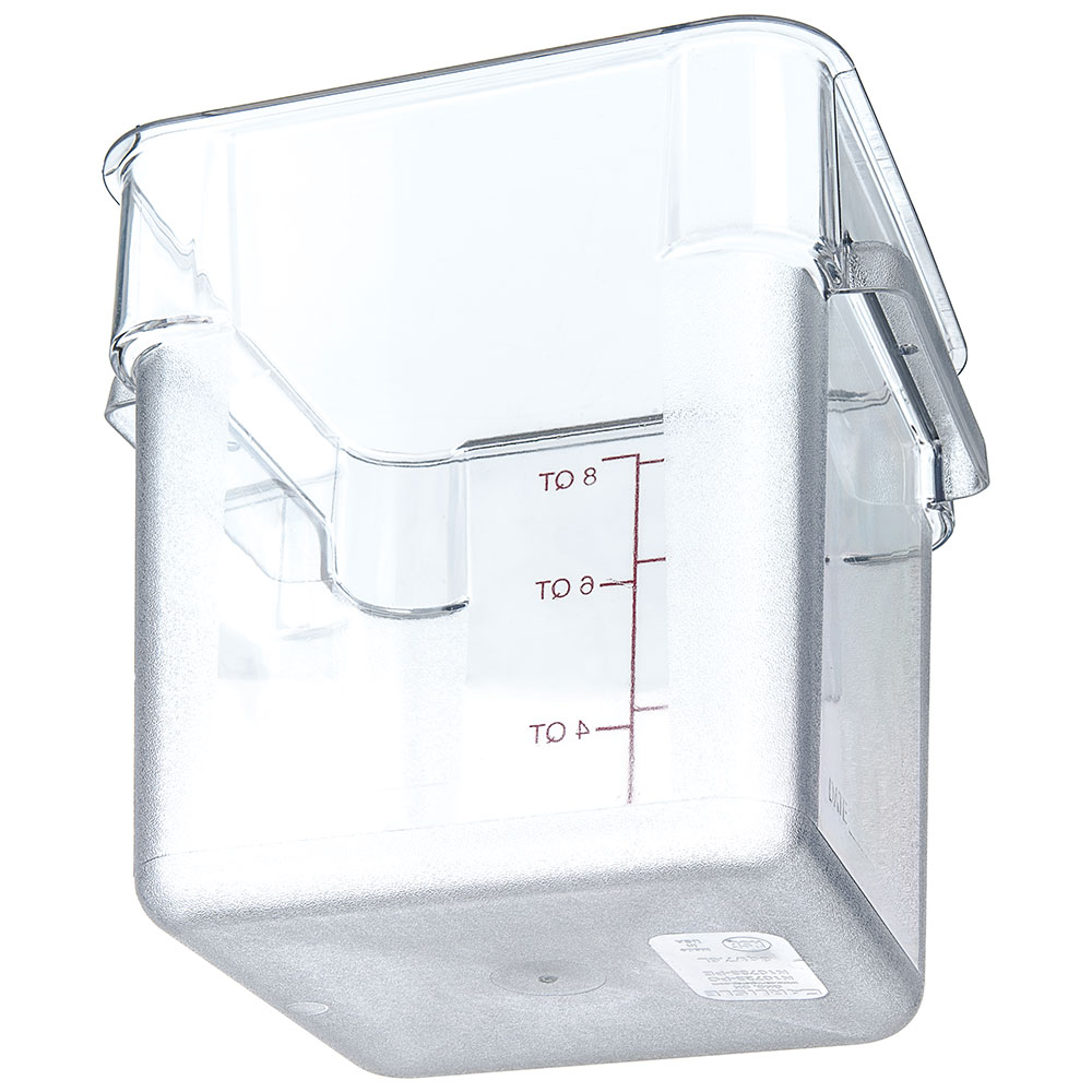 Carlisle 1072307 8-qt Square Food Storage Container - Clear