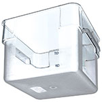 Carlisle 1072407 12-qt Square Food Storage Container - Clear