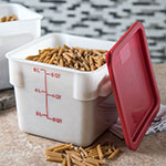 Carlisle 1073202 6-qt Square Food Storage Container - Stackable, White