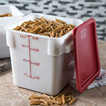Carlisle 1073302 8-qt Square Food Storage Container - Stackable, White
