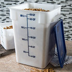 Carlisle 1073602 22-qt Square Food Storage Container - Stackable, White
