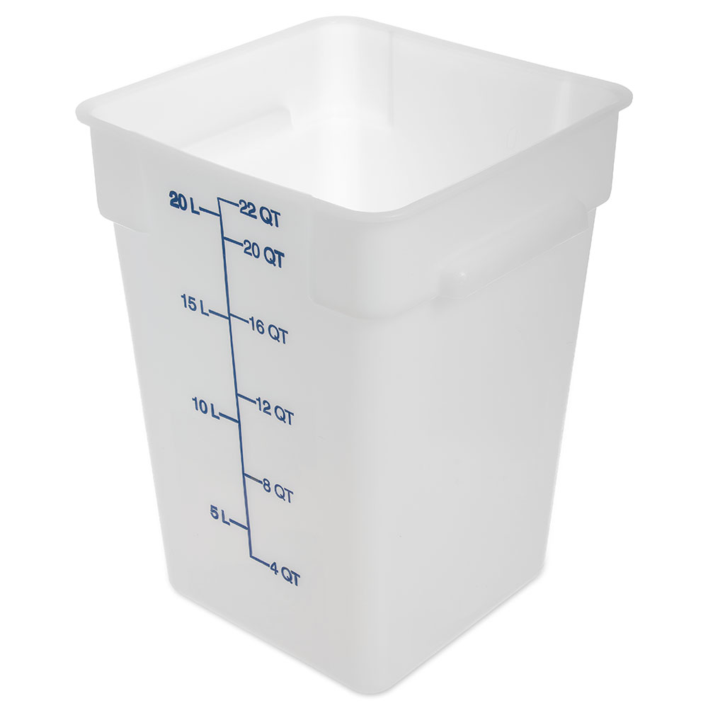 Carlisle Food Service 1073602 22-Quart Food Storage Container NSF White Restaurant Supply