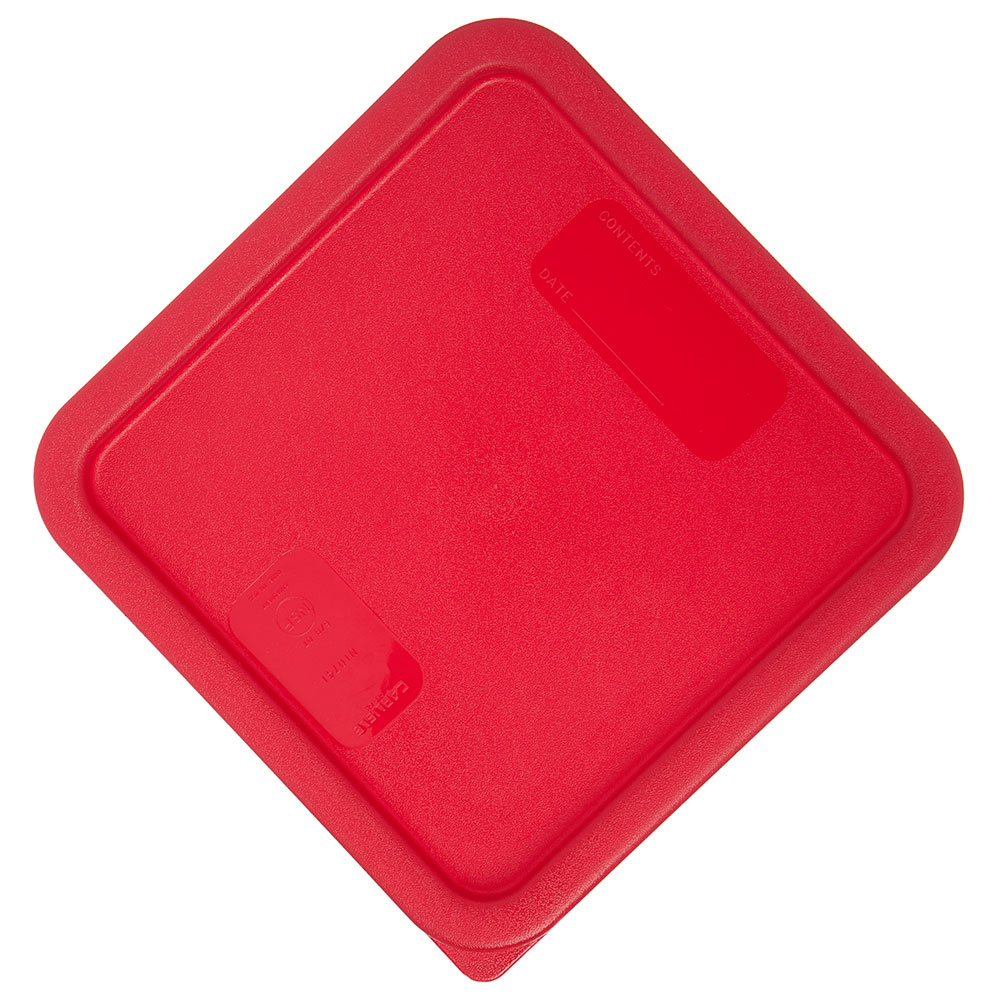 Carlisle 1074105 Food Storage Lid, for 6 & 8-qt Containers, Square, Red