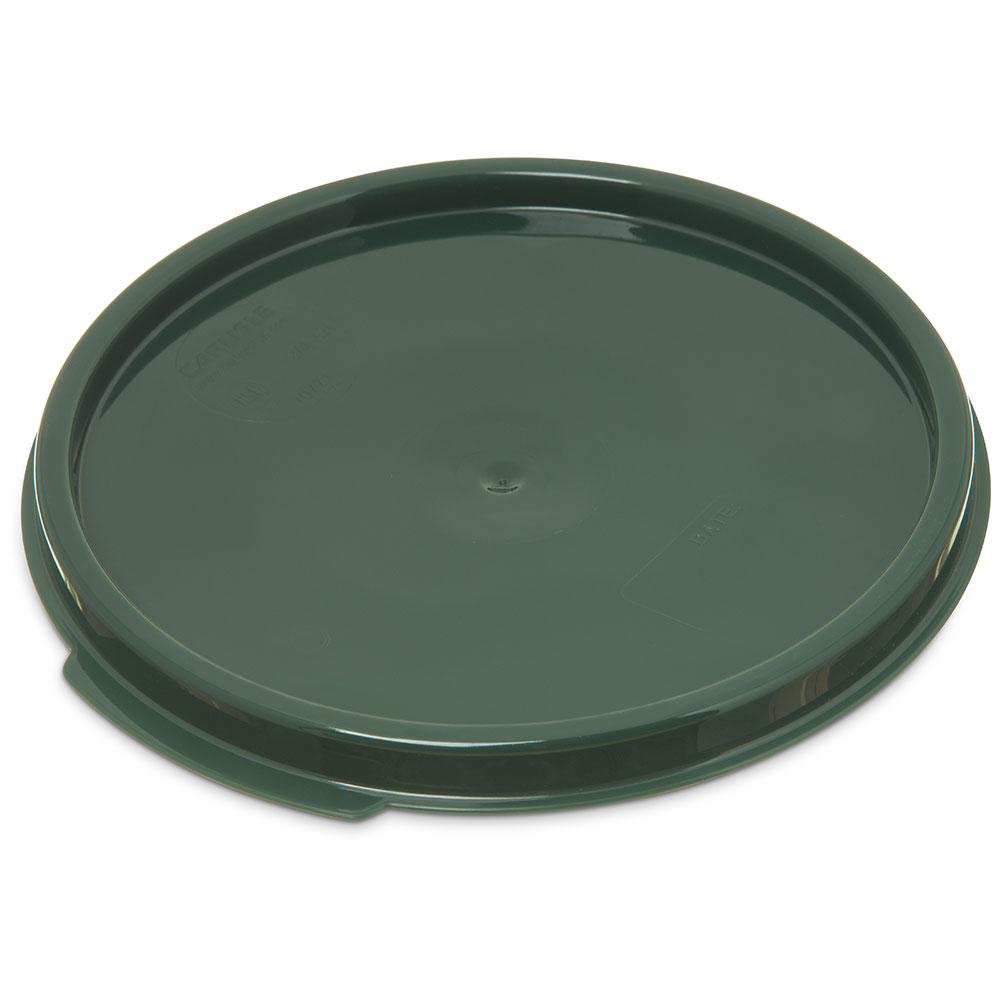 Carlisle 1077108 Food Storage Lid, for 2 & 4-qt Containers, Round, Forest Green