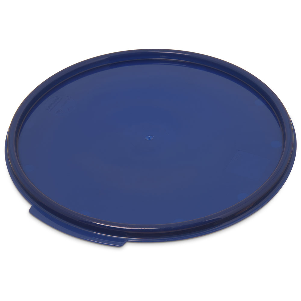 Carlisle 1077360 12/18/22-qt Round Food Storage Lid - Blue