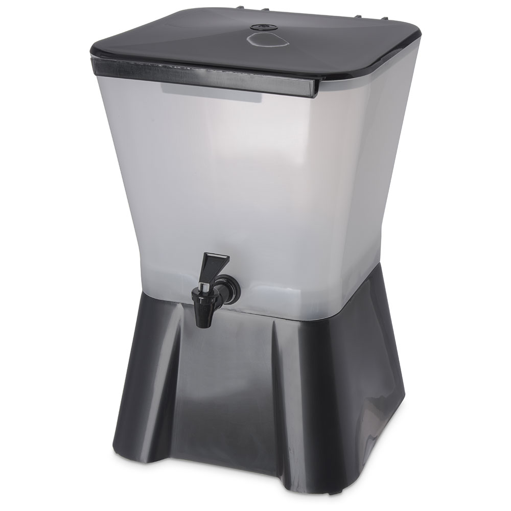 Carlisle 1082003 3-gal Square Beverage Server - Black