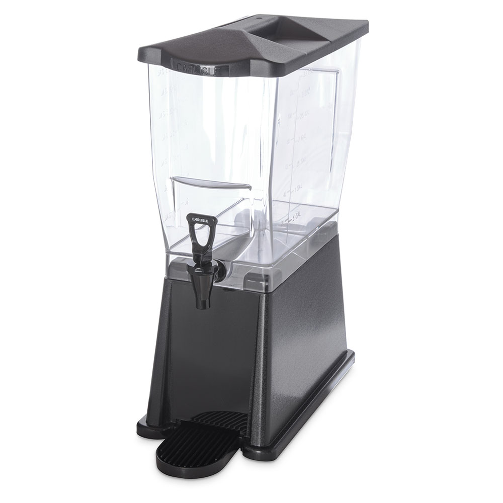 Carlisle 1085003 3-gal Premium Beverage Server - Clear/Black