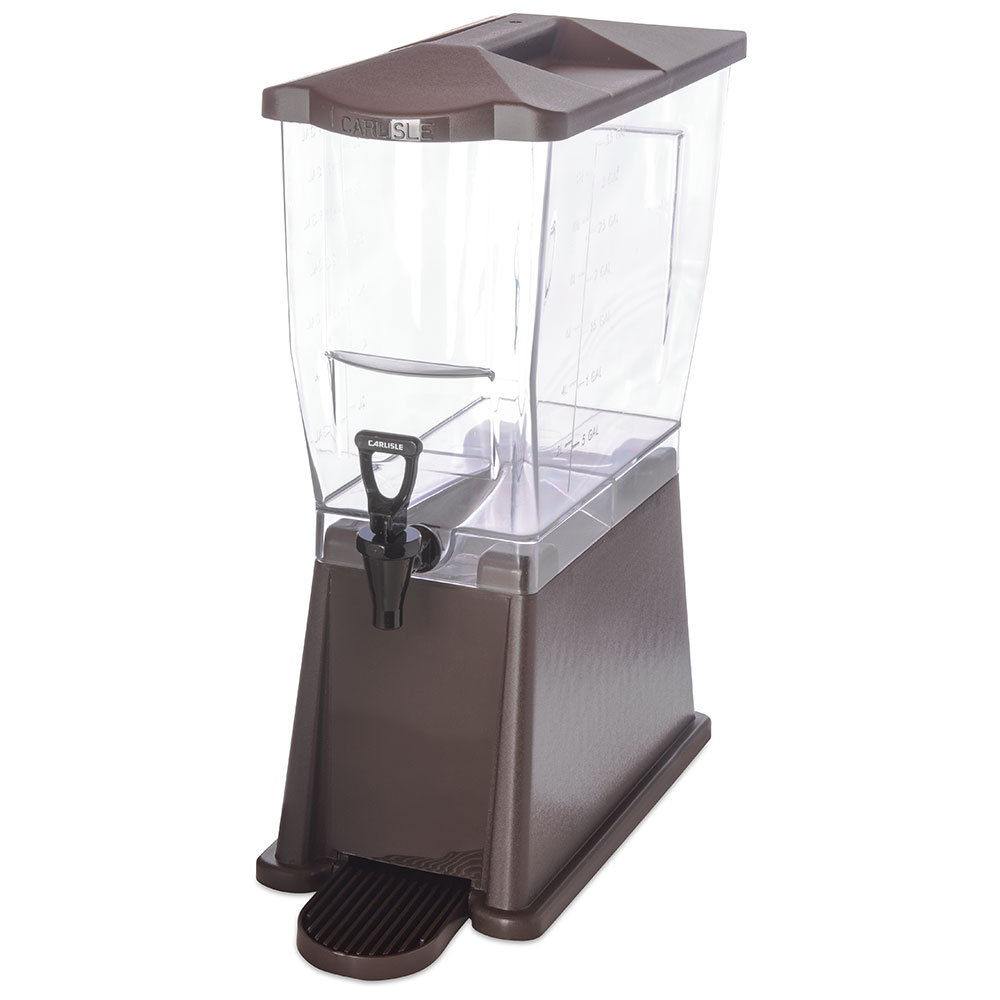 Carlisle 1085069 3-gal Premium Beverage Server - Clear/Dark Brown