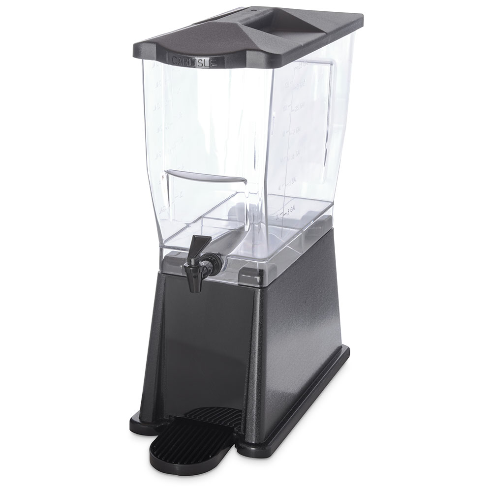 Carlisle 1085203 3-gal Economy Beverage Server - Clear/Black
