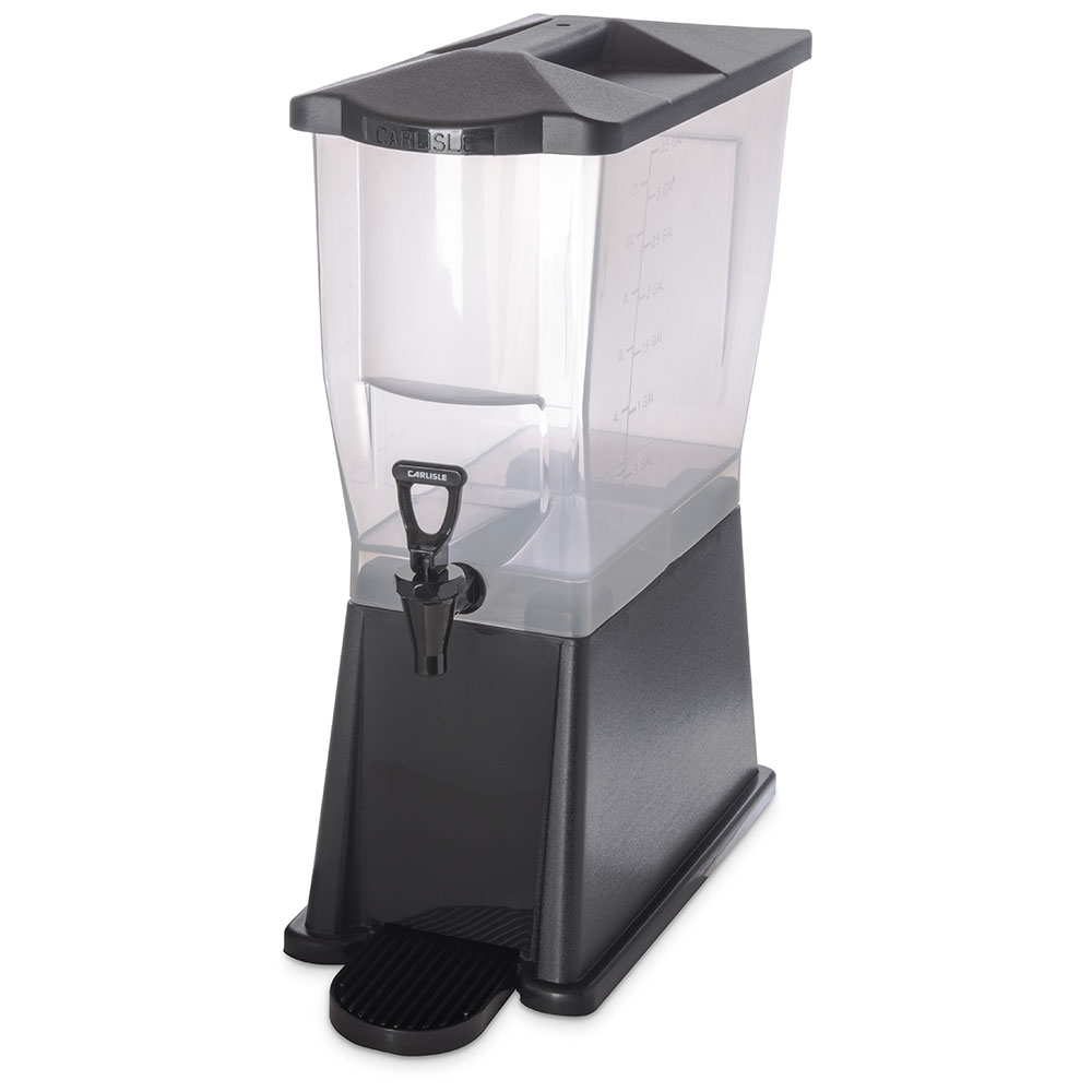 Carlisle 1085403 3-gal Premium Beverage Server - Translucent/Black