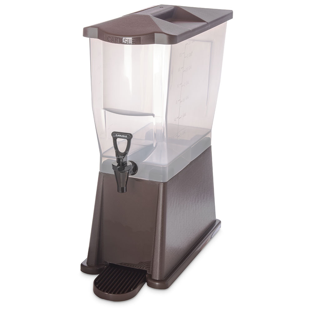 Carlisle 1085469 3-gal Premium Beverage Server - Translucent/Dark Brown