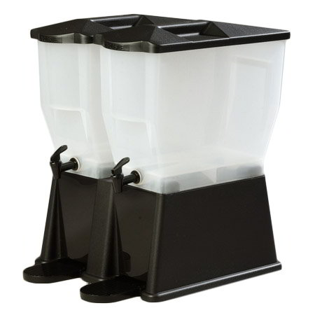 Carlisle 1086703 Double Beverage Dispenser Base ONLY - Polycarbonate, Black