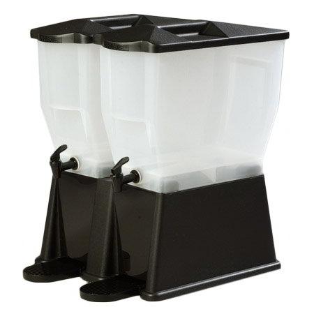 Carlisle 1086703 Double Beverage Dispenser Base - Polycarbonate, Black