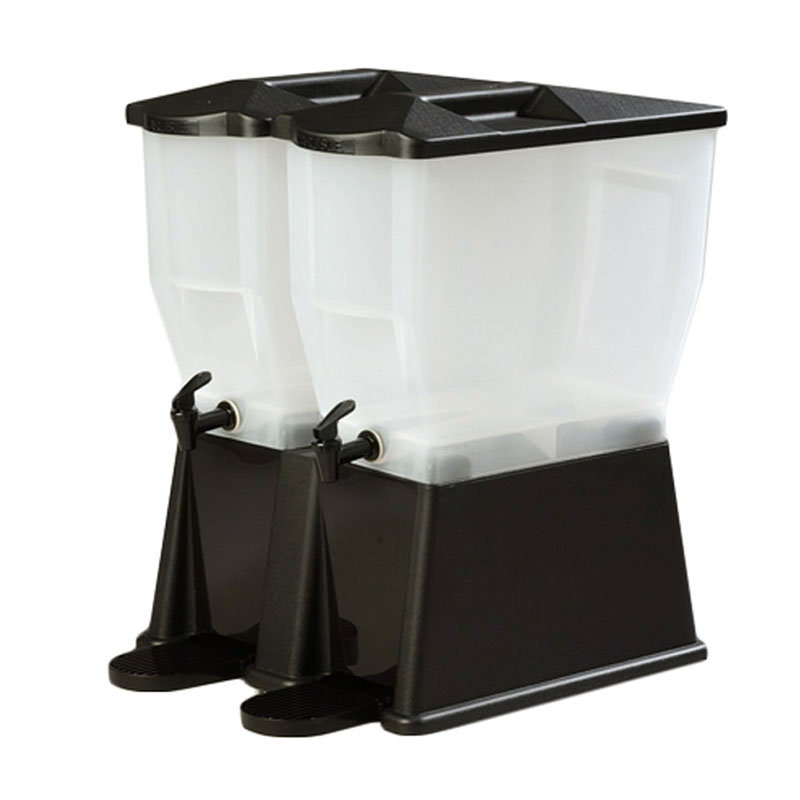 Carlisle 1086903 Double Beverage Dispenser Base - Polypropylene, Black